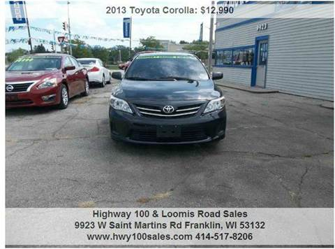2013 Toyota Corolla for sale at Highway 100 & Loomis Road Sales in Franklin WI