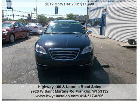 2012 Chrysler 200 for sale at Highway 100 & Loomis Road Sales in Franklin WI