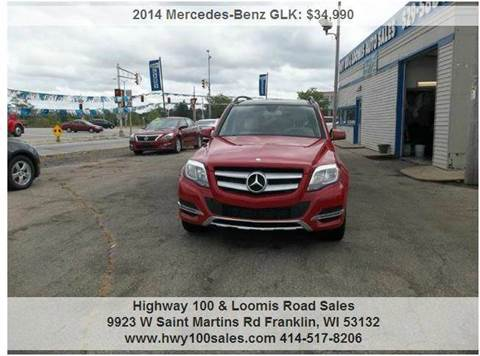 2014 Mercedes-Benz GLK for sale at Highway 100 & Loomis Road Sales in Franklin WI