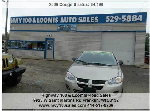 2006 Dodge Stratus for sale at Highway 100 & Loomis Road Sales in Franklin WI