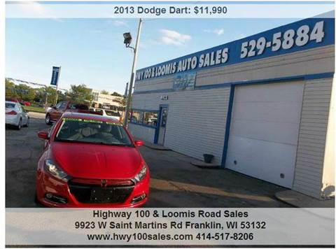 2013 Dodge Dart for sale at Highway 100 & Loomis Road Sales in Franklin WI