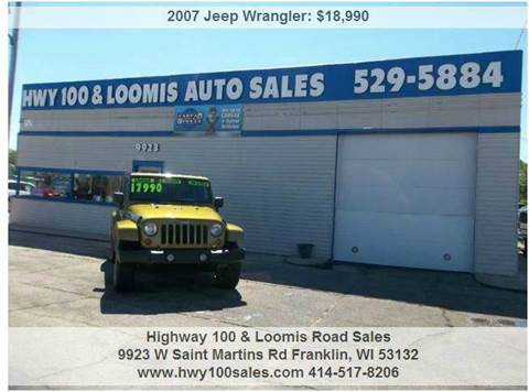 2007 Jeep Wrangler for sale at Highway 100 & Loomis Road Sales in Franklin WI