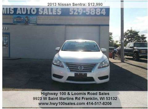 2013 Nissan Sentra for sale at Highway 100 & Loomis Road Sales in Franklin WI
