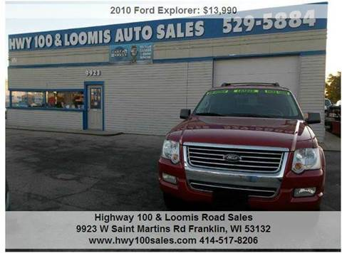 2010 Ford Explorer for sale at Highway 100 & Loomis Road Sales in Franklin WI