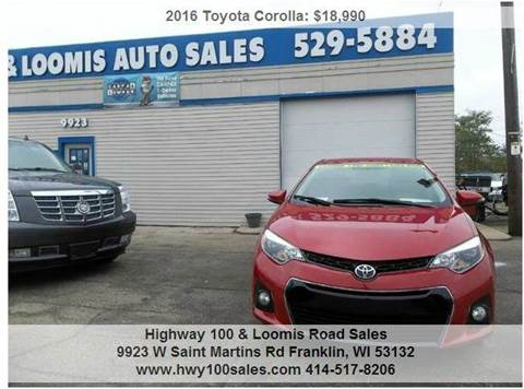 2016 Toyota Corolla for sale at Highway 100 & Loomis Road Sales in Franklin WI