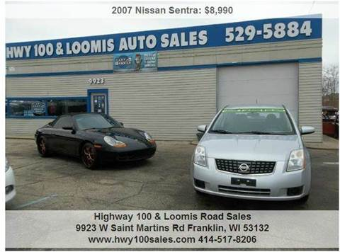 2007 Nissan Sentra for sale at Highway 100 & Loomis Road Sales in Franklin WI