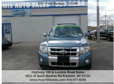 2011 Ford Escape for sale at Highway 100 & Loomis Road Sales in Franklin WI