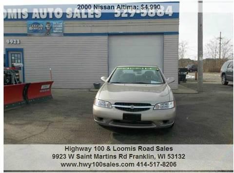 2000 Nissan Altima for sale in Franklin, WI