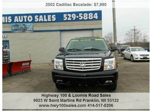 2002 Cadillac Escalade for sale at Highway 100 & Loomis Road Sales in Franklin WI