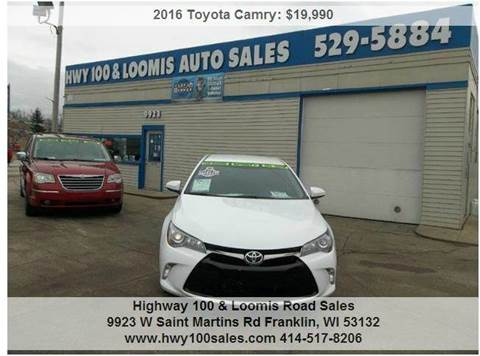 2016 Toyota Camry for sale at Highway 100 & Loomis Road Sales in Franklin WI