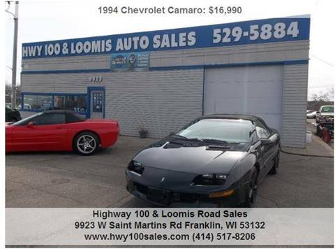 1994 Chevrolet Camaro for sale at Highway 100 & Loomis Road Sales in Franklin WI