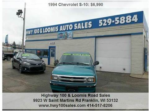 1994 Chevrolet S-10 for sale at Highway 100 & Loomis Road Sales in Franklin WI