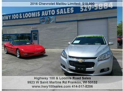 2016 Chevrolet Malibu Limited for sale at Highway 100 & Loomis Road Sales in Franklin WI