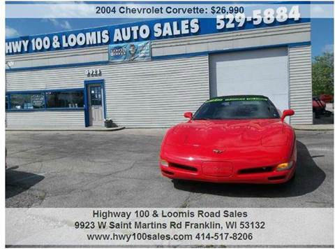 2004 Chevrolet Corvette for sale at Highway 100 & Loomis Road Sales in Franklin WI