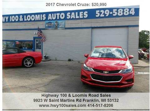 2017 Chevrolet Cruze for sale at Highway 100 & Loomis Road Sales in Franklin WI