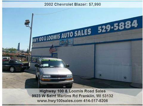 2002 Chevrolet Blazer for sale at Highway 100 & Loomis Road Sales in Franklin WI
