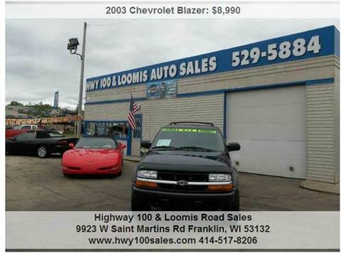 2003 Chevrolet Blazer for sale at Highway 100 & Loomis Road Sales in Franklin WI