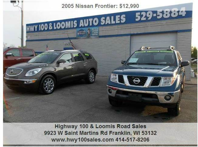 2005 Nissan Frontier for sale at Highway 100 & Loomis Road Sales in Franklin WI