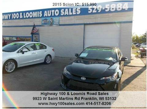 2015 Scion tC for sale at Highway 100 & Loomis Road Sales in Franklin WI