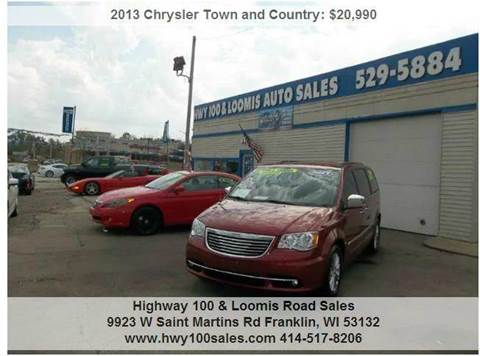 2013 Chrysler Town and Country for sale at Highway 100 & Loomis Road Sales in Franklin WI