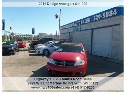 2011 Dodge Avenger for sale at Highway 100 & Loomis Road Sales in Franklin WI