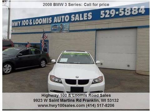 2008 BMW 3 Series for sale at Highway 100 & Loomis Road Sales in Franklin WI