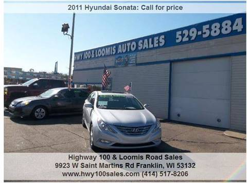 2011 Hyundai Sonata for sale at Highway 100 & Loomis Road Sales in Franklin WI