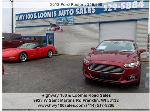 2013 Ford Fusion for sale at Highway 100 & Loomis Road Sales in Franklin WI