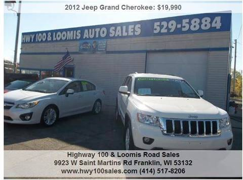 2012 Jeep Grand Cherokee for sale at Highway 100 & Loomis Road Sales in Franklin WI