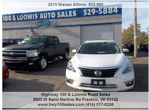 2015 Nissan Altima for sale at Highway 100 & Loomis Road Sales in Franklin WI