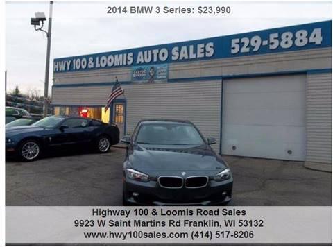 2014 BMW 3 Series for sale at Highway 100 & Loomis Road Sales in Franklin WI