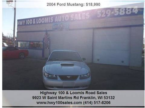 2004 Ford Mustang for sale at Highway 100 & Loomis Road Sales in Franklin WI