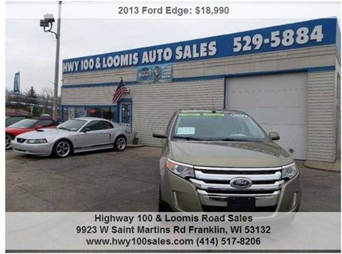 2013 Ford Edge for sale at Highway 100 & Loomis Road Sales in Franklin WI