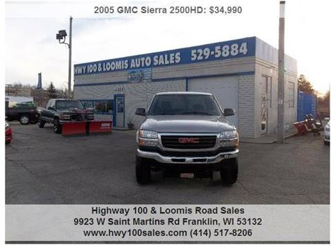 2005 GMC Sierra 2500HD for sale at Highway 100 & Loomis Road Sales in Franklin WI
