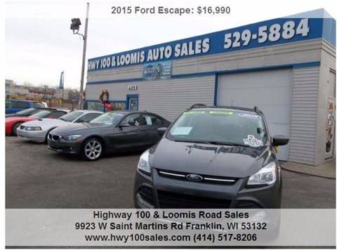 2015 Ford Escape for sale at Highway 100 & Loomis Road Sales in Franklin WI