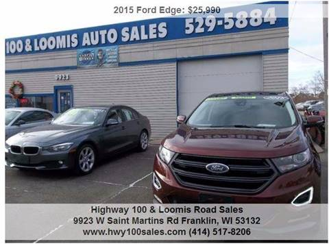 2015 Ford Edge for sale at Highway 100 & Loomis Road Sales in Franklin WI