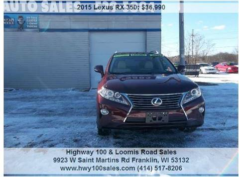 2015 Lexus RX 350 for sale at Highway 100 & Loomis Road Sales in Franklin WI