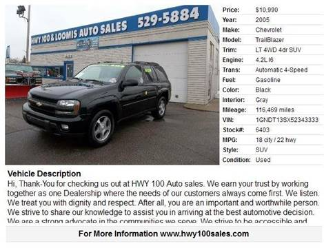2005 Chevrolet TrailBlazer for sale at Highway 100 & Loomis Road Sales in Franklin WI