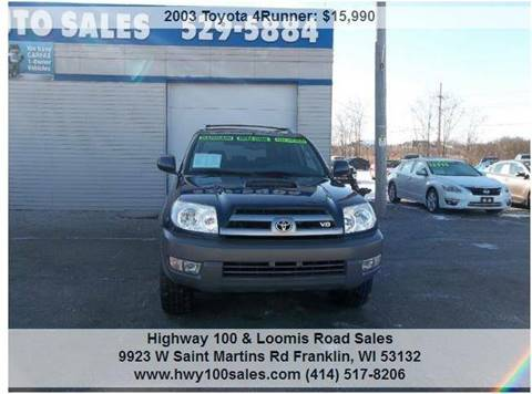 2003 Toyota 4Runner for sale at Highway 100 & Loomis Road Sales in Franklin WI
