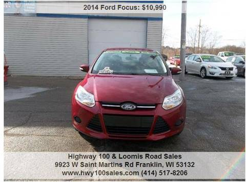 2014 Ford Focus for sale at Highway 100 & Loomis Road Sales in Franklin WI