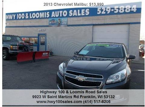 2013 Chevrolet Malibu for sale at Highway 100 & Loomis Road Sales in Franklin WI