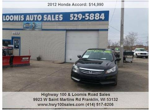 2012 Honda Accord for sale at Highway 100 & Loomis Road Sales in Franklin WI