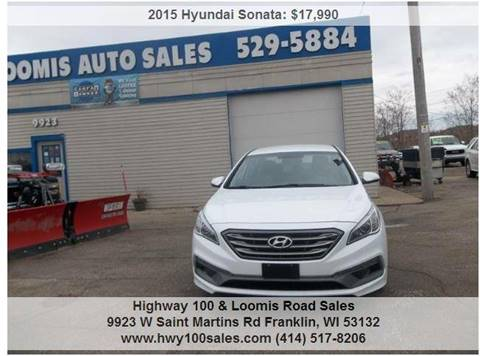 2015 Hyundai Sonata for sale at Highway 100 & Loomis Road Sales in Franklin WI
