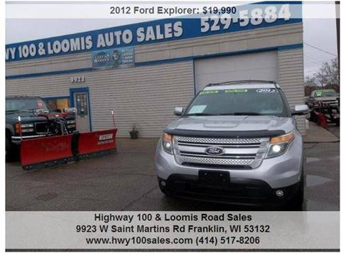 2012 Ford Explorer for sale at Highway 100 & Loomis Road Sales in Franklin WI