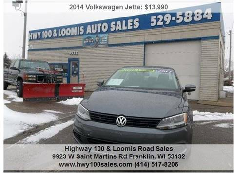 2014 Volkswagen Jetta for sale at Highway 100 & Loomis Road Sales in Franklin WI