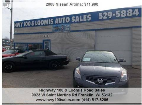 2008 Nissan Altima for sale at Highway 100 & Loomis Road Sales in Franklin WI