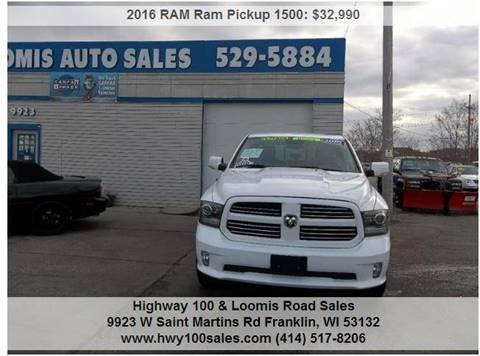 2016 RAM Ram Pickup 1500 for sale at Highway 100 & Loomis Road Sales in Franklin WI
