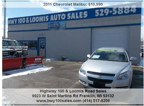 2011 Chevrolet Malibu for sale at Highway 100 & Loomis Road Sales in Franklin WI