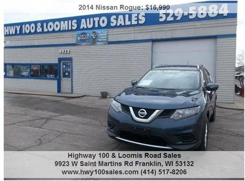2014 Nissan Rogue for sale at Highway 100 & Loomis Road Sales in Franklin WI