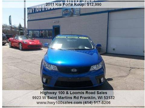 2011 Kia Forte Koup for sale at Highway 100 & Loomis Road Sales in Franklin WI